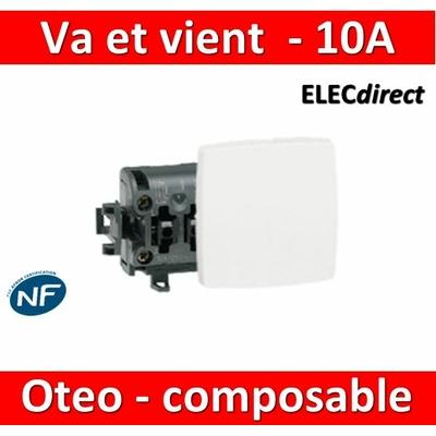Legrand Oteo - Va-et-Vient composable 10A - 230V - 086101
