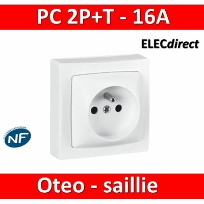 Legrand Oteo - Prise de courant 2P+T 16A - 230V - 086027