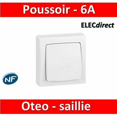 Legrand Oteo - Poussoir 6A - 230V - 086006