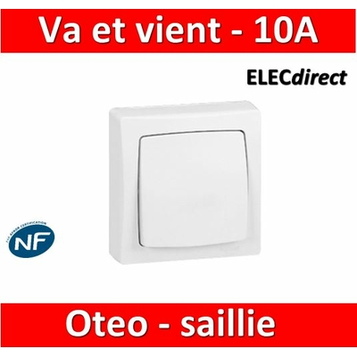 Legrand Oteo - Va-et-Vient 10A - 230V - 086001