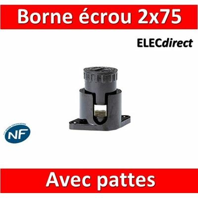 Legrand - Borne écrou 6 pans avec pattes 2 x 75 mm2 - 034045