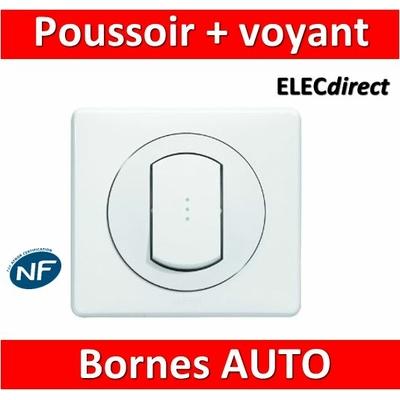 Legrand Céliane - Poussoir à voyant lumineux complet blanc 1 poste