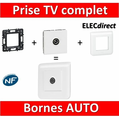 Legrand Mosaic - Prise TV simple - Mâle complet - 1 poste (2M)