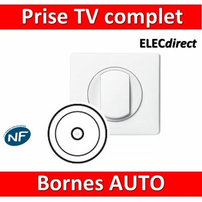 Legrand Céliane - Prise TV simple complet blanc 1 poste