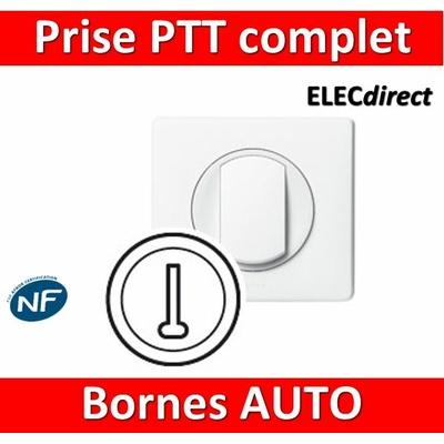 Legrand Céliane - Prise téléphone PTT complet blanc 1 poste