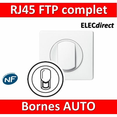 Legrand Céliane - Prise  RJ45 Cat 6 FTP complet blanc 1 poste