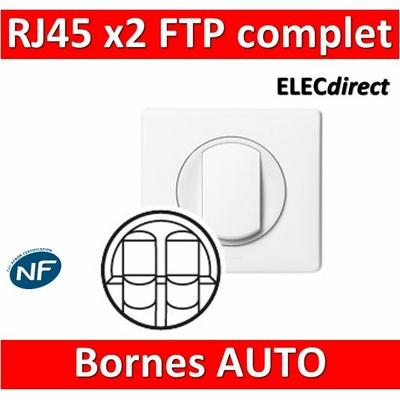 Legrand Céliane - Double Prise téléphone RJ45 Cat 6 FTP complet blanc 1 poste