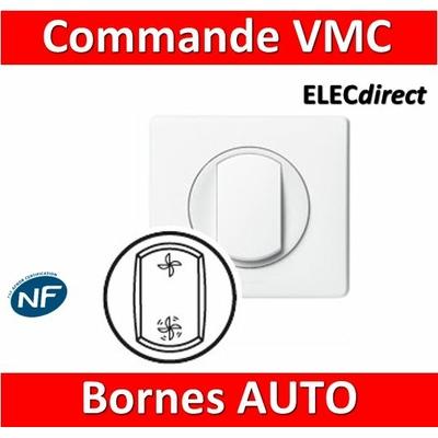 Legrand Céliane - Interrupteur commande VMC 2 vitesses complet blanc 1 poste