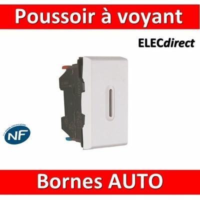 Legrand Poussoir témoin Prog Mosaic - 1 mod - 6 A - blanc 077033