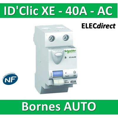 SCHNEIDER - Inter différentiel  D'CLIC XE 2P - 40A - 30ma - Type AC - 16160