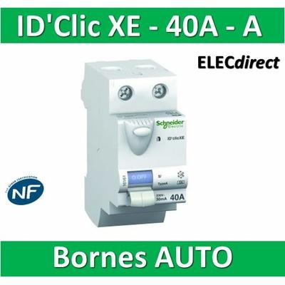 SCHNEIDER - Inter différentiel  D'CLIC XE 2P - 40A  - 30ma - Type A - 16158
