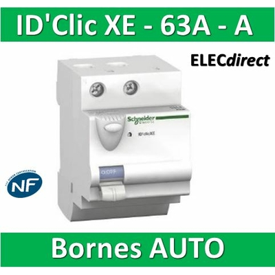 SCHNEIDER - Inter différentiel  D'CLIC XE 2P - 63A - 30ma - Type A -  16156