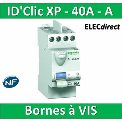 SCHNEIDER - Inter différentiel  D'CLIC XP 2P - 40A - 30ma - Type A -  23158