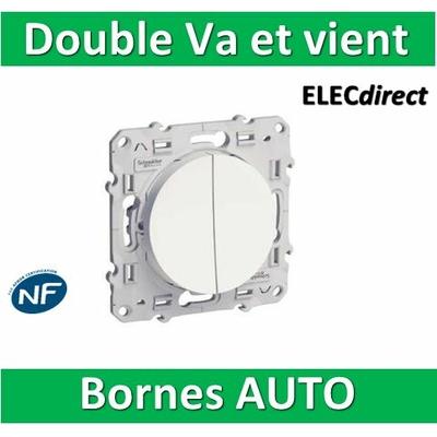 Schneider Odace - Double Va-et-vient - 10A - 250V - s520214