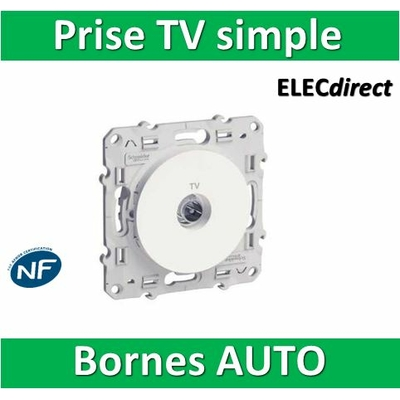 Schneider Odace - Prise TV simple - s520445