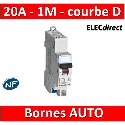 Legrand - Disjoncteur AUTO courbe D - DNX3 - 20A - Ph+N - 1M - 406810