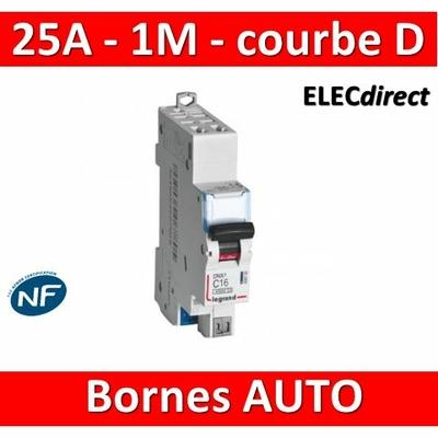 Legrand - Disjoncteur AUTO courbe D - DNX3 - 25A - Ph+N - 1M - 406811