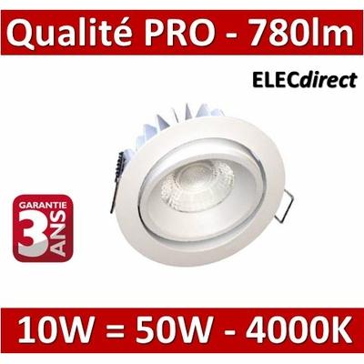 Lited - Spot LED 10W MonoLED Orientable - 4000K - 780lm