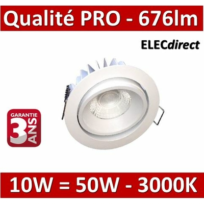 Lited - Spot LED 10W MonoLED Orientable - 3000K - 676lm