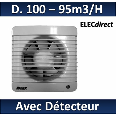 Nather - Aérateur + détection de présence + minuterie D. 100 mm - 12109