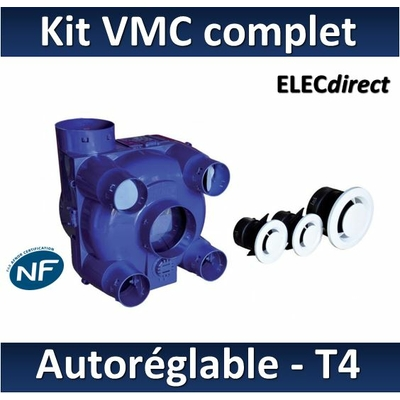 Nather - KIT VMC Simple Flux Autoréglable T4 pour rénovation