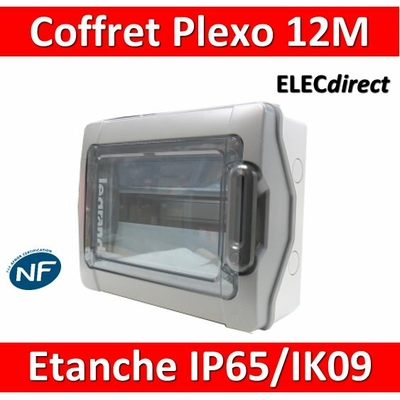 Legrand - Coffret étanche Plexo 12 modules - 1 rangée - IP65/IK09 - 001921