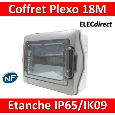 Legrand - Coffret étanche Plexo 18 modules - 1 rangée - IP65/IK09 - 001924