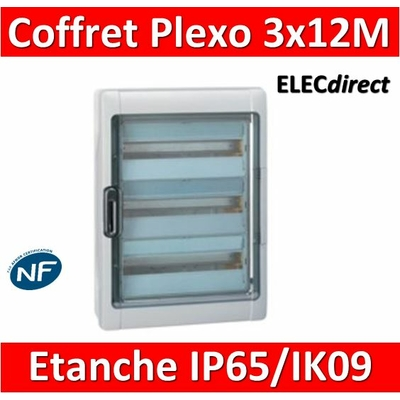Legrand - Coffret étanche Plexo 36 modules - 3 rangées - IP65/IK09 - 001923