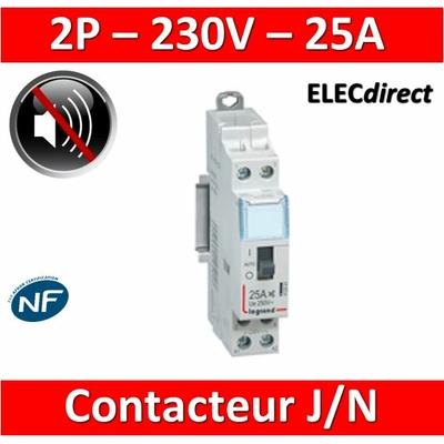 Legrand - Contacteur CX3 J/N heures creuses - 25A bipolaire pour chauffe-eau - 412501