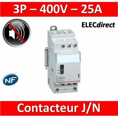 Legrand - Contacteur J/N heures creuses 25A - 400V Tripolaire - 412502
