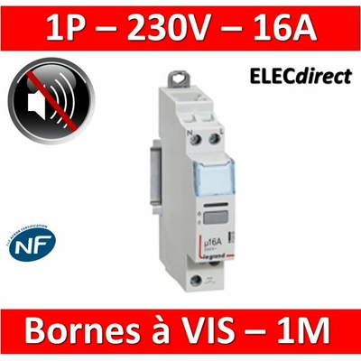 Legrand - Télérupteur CX3 silencieux unipolaire 16A - 230V - 412400