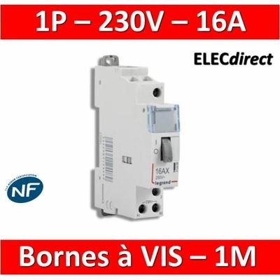 Legrand - Télérupteur CX3 - Unipolaire 16A - 230V - 412408