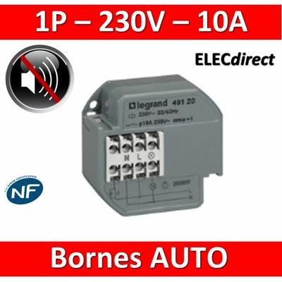 Legrand - Télérupteur encastrable 10A - 250V - Silencieux - 049120