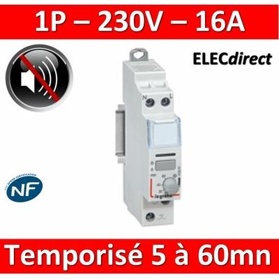 Legrand - Télérupteur CX3 silencieux et temporisé 1P - 16A - 1F - 412401