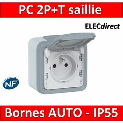 Legrand Plexo - Prise de courant 2P+T 16A 230V - IP55/IK07 - 069731