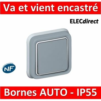 Legrand Plexo - Va-et-Vient encastré 10A - 230V - IP55/IK07 - 069811
