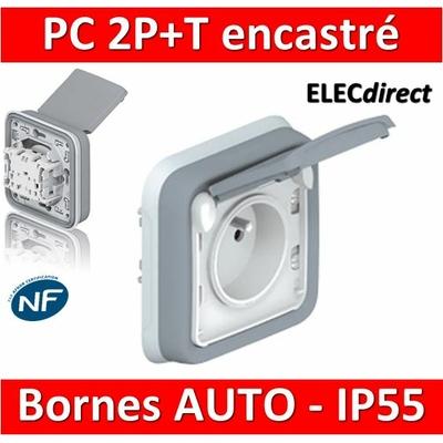 Legrand Plexo - Prise de courant encastré 2P+T 16A - 230V - IP55/IK07 - 069831