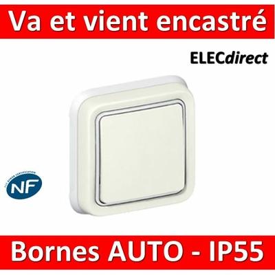 Legrand Plexo - Va-et-Vient encastré - blanc - 10A - 230V - IP55/IK07 - 069851