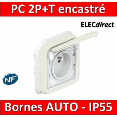Legrand Plexo - Prise de courant encastré - blanc - 16A - 230V - IP55/IK07 - 069870