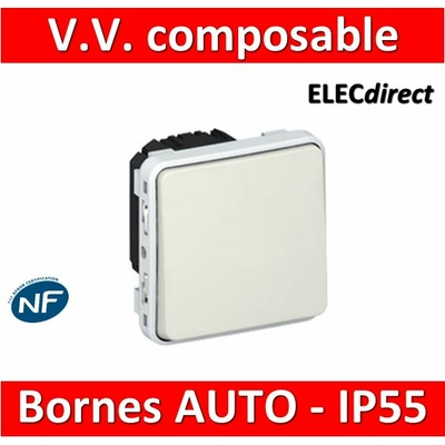Legrand Plexo - Va-et-Vient - blanc - composable 10A - 230V - IP55/IK07 - 069611