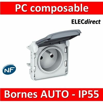 Legrand Plexo - Prise de courant 2P+T composable 16A - 230V - IP55/IK07 - 069551