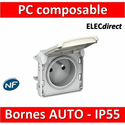 Legrand Plexo - Prise de courant - blanc - composable 16A - 230V - IP55/IK07 - 069621