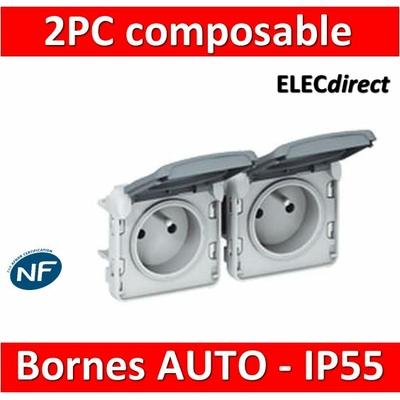 Legrand Plexo - Double PC précâblées - horizontal - 16A - 230V - IP55/IK07 - 069562
