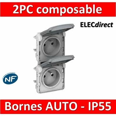 Legrand Plexo - Double PC précâblées - vertical - 16A - 230V  - IP55/IK07 - 069563