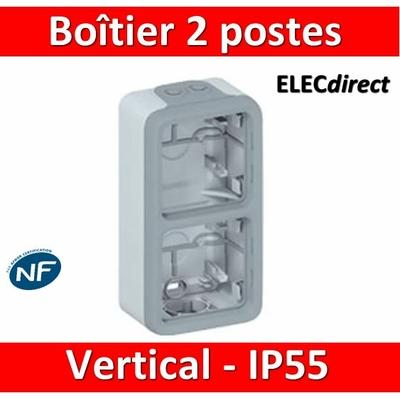Legrand Plexo - Boîtier 2 postes verticaux - IP55/IK07 - 069661
