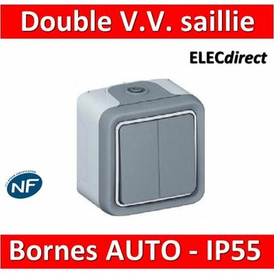 Legrand Plexo - Double Va-et-Vient 10A - 230V - IP55/IK07 - 069715