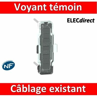 Legrand - Voyant LED Témoin Prog. Céliane/Mosaic 230V câblage existant - 067685