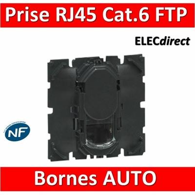Legrand Céliane - Mécanisme Prise téléphone / informatique RJ45 FTP Cat. 6 - 067345