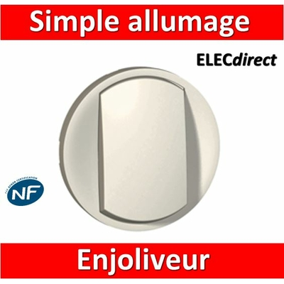 Legrand Céliane - Enjoliveur simple allumage blanc - 068001