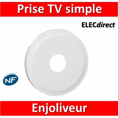 Legrand Céliane - Enjoliveur TV blanc - 068282